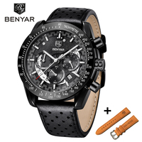 BENYAR Casual Fashion Chronograph Stainless Steel Watches Set Men high Quality business Quartz Male Wristwatch Relogio Masculino