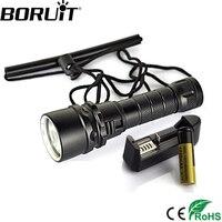 1800 Lumen 10W CREE XMLT6 LED Diving Flashlight Torch 80M Underwater Lamp Waterproof LED Torch Flash