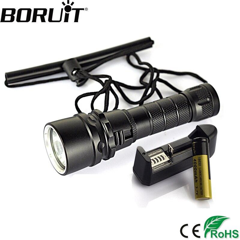 Boruit 2500 Lumen XML T6 LED Diving Flashlight