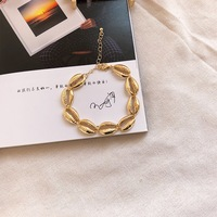 10/20pcs Fancy Gold tone conch and Shell Anklet/Bracelets/Hand Strap Summer Cowrie Beach Foot Jewelry for Women Girl