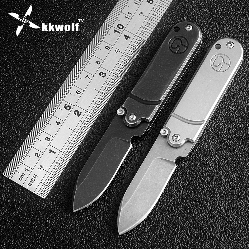 KKWOLF new Pocket Folding Knife Tactical Camping Hunting Key Chain defense tool mini EDC Multi Bearing Flipper survival knife