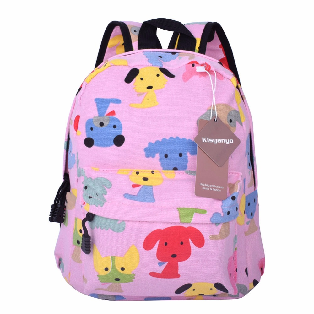 dcc6e0bc6f27 Aliexpress.com   Buy Klsyanyo Age 1 3 Kids Kindergarten Cute Canvas School  Bag Pattern Backpacks Kids Girl Mini Rucksack Bookbag from Reliable backpack  kids ...