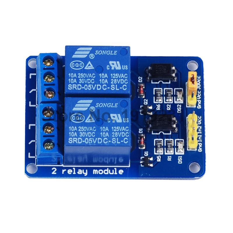 1PCS 2 Channel 5V Relay Module Relay Expansion Board 5V Low level Triggered 2Channel Relay Module for Arduino 5v 2 channel ir relay shield expansion board module for arduino with infrared remote controller