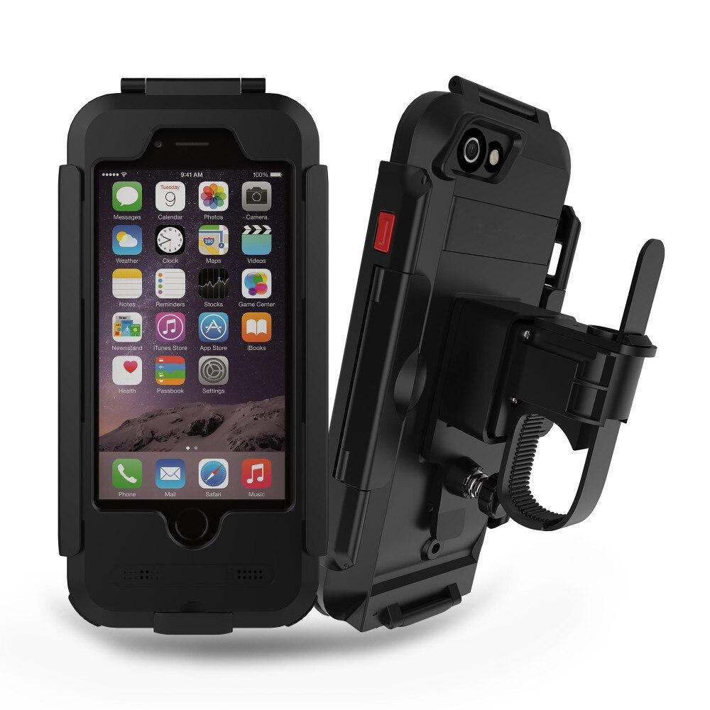 bilder für Einzigartige Benutzerdefinierte Wasserdicht Fahrrad Handyhalter Handyhalter für iPhone7 5 s 6 s Motorrad GPS Halter Unterstützung Telefon Moto