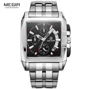 Image 2 - MEGIR Fashion Mens Watches Top Brand Luxury Quartz Watch Men Steel Date Waterproof Sport Watch Relogio Masculino