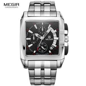 Image 2 - MEGIR ファッションメンズ腕時計トップブランドの高級クォーツ時計男性鋼日付防水スポーツウォッチレロジオ Masculino