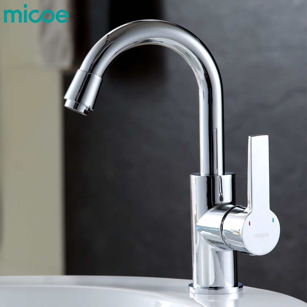 micoe hot and cold water kitchen faucet mixer single handle single hole modern style chrome tap 360 swivel Multi-functionM-HC100 360 rotate copper chrome swivel kitchen faucet mixer cold and hot silver single hole handle kitchen water tap
