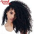 3C 3B Kinky Curly Grampo Em Extensões Do Cabelo Humano 7 Pcs/120G Clipe em Extensões Do Cabelo Humano Cacheados Crespo Mongol 8A Cabelo Clipe ins