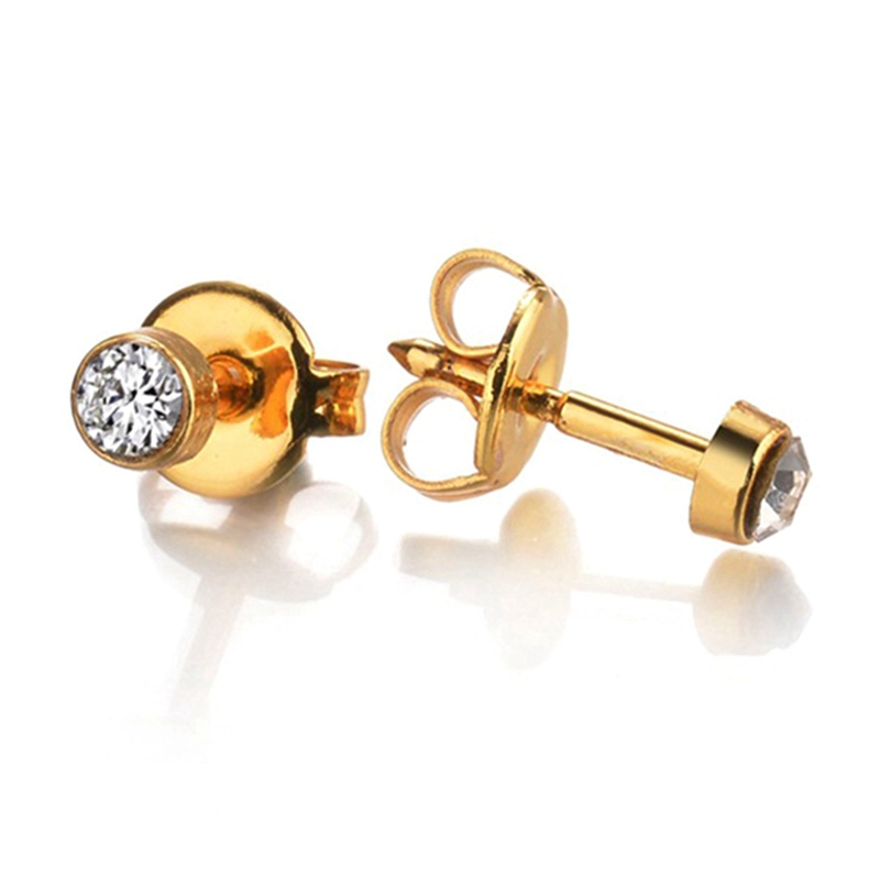 For Sexy Girls Studex Piercing Jewelry Silver&Gold Earrings Fashion Pair 316l Surgical Birthstone Ear Stud Piercing Gun