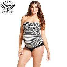 Swimwear women Summer bathing suit women Striped Pregnant Women Bikini Sets Swimsuit Maternity Pregnancy Holiday Beach