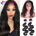Top 360 Lace Frontal With Bundle Brazilian Body Wave 360 Lace Frontal Closure With Bundles Pre Plucked 360 Frontal With Bundles