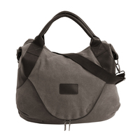 Women Handbag Pure Color Of Solid Casual Zipper Canvas Shopping Bags For New