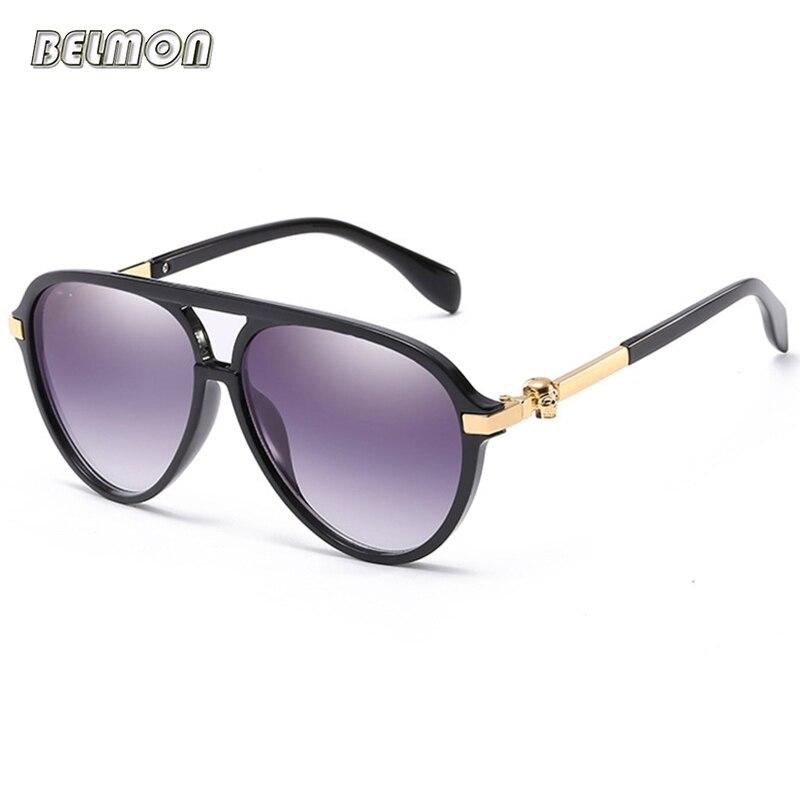 Mode lunettes de Soleil Femmes Marque De Luxe Designer Classique Crâne Lunettes de Soleil Pour Dames UV400 Lentille à Gradient Femelle Oculos RS540