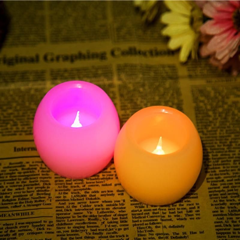 2PCS Flickering Led Candles Battery Operated Tealight Yellow Light Candle Lamp LED Party Candles For Parties Wedding Decoration