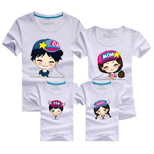 Family Matching Outfits 2016 Men Funny T Shirt 100% Cotton Harajuku T-shirt Red Brand Clothing Skate White Tshirt Homme Polera