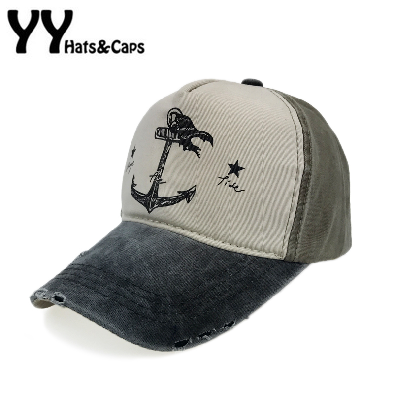 ce03a6f5131 Vintage Anchor Baseball Cap 5 Panel Hip Hop Snapback Hat Men Cotton Trucker  Wash Caps Do Old Pirate Ship Hats Casquette YY17194-in Baseball Caps from  ...