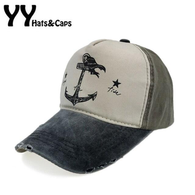 3d9ec1b6c3d Vintage Anchor Baseball Cap 5 Panel Hip Hop Snapback Hat Men Cotton Trucker  Wash Caps Do