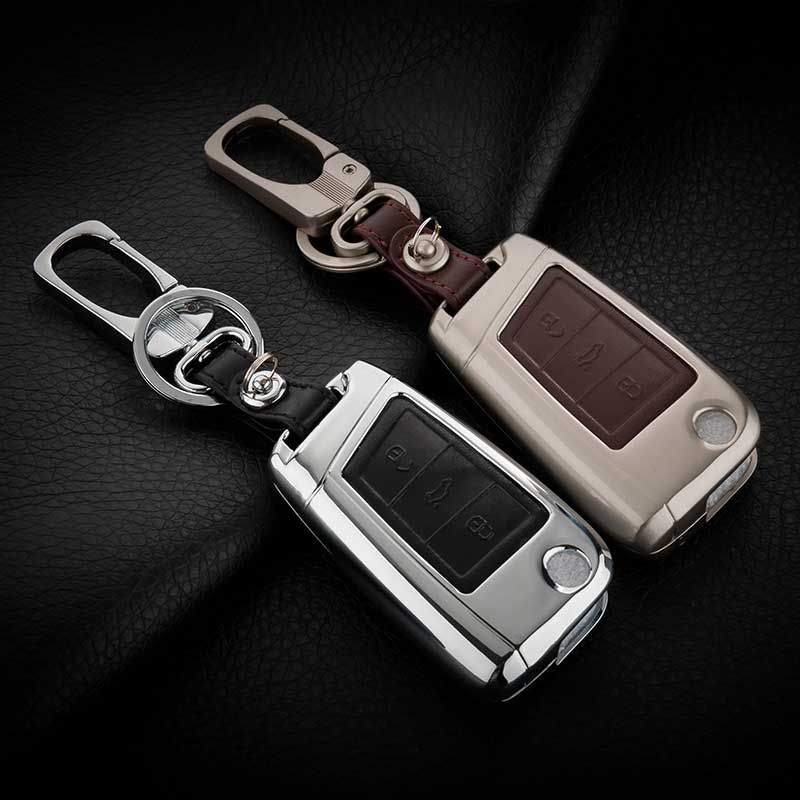 Leather Car Styling Key Cover Case For Volkswagen VW Golf 7 MK7 Passat B5 B6 Polo Golf 4 5 6 7 Touran Tiguan Bora Jetta mk5 mk6 abs mirror cover chrome matt painted cap side mirror housings for volkswagen jetta golf 5 passat b6 ct
