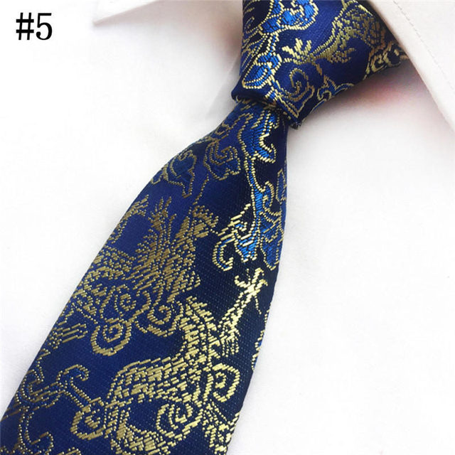 16d267ee1f9b Fashion Ties 2017 New Fabric Festive Party Men's Accessories Chinese Patterned  Wedding Tie Groomsmen Tie Polyester Yarn 017