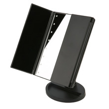 Pro Portable Three Folding Table LED Lamp Luminous Makeup Mirror Adjustable Tabletop Countertop Light Technological Mirror Pop