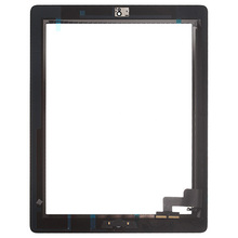 Grade AAAAA Touch Screen For iPad 2 9.7'' Digitizer Touch Panel Front Screen Assembly With Adhesive for apple A1395 A1396 A1397