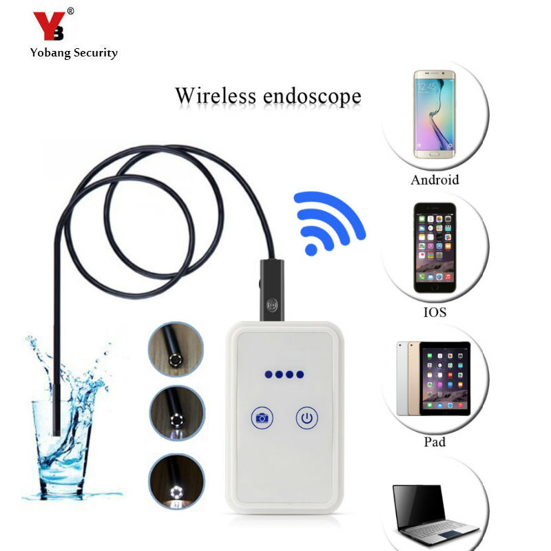 Yobang Security 9MM Wireless WIFI Endoscope Camera For Android/IPhone/PC Surveillance USB Inspection Borescope Cam For Car etc wifi 4 9mm lens ear nose medical usb endoscope borescope inspection otoscope camera for ios android pc