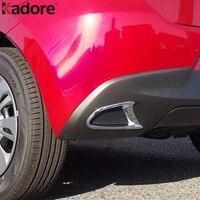 For Mazda 2 Demio DJ 2014 2018 Hatchback Chrome Front Rear Reflector Fog Light Lamp Cover Trim Foglight Bumper Molding Garnish