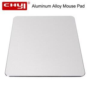 Alfombrilla para ratón CHYI, de aleación de aluminio, de Metal, fina, grande, para juegos de PC, ordenador portátil, alfombrilla para ratón MackBook Pro Magic Xiaomi Mouse