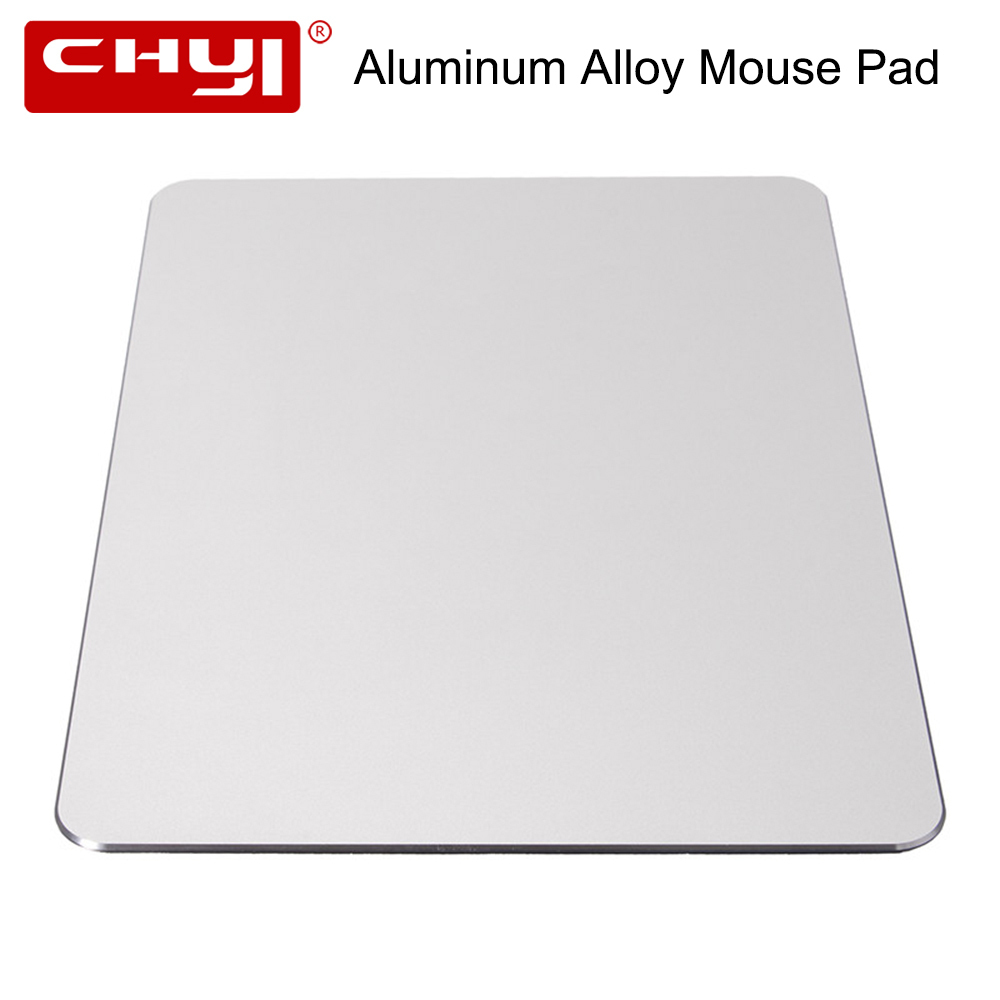 CHYI Aluminum Alloy Metal Slim Large Game Mouse Pad PC Computer Laptop Gaming <font><b>Mousepad</b></font> for Apple MackBook Pro Magic <font><b>Xiaomi</b></font> Mice image