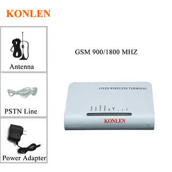 KONLEN Wireless Fixed GSM 900/1800 MHZ Terminal 2 Ports Connect Home Desktop Phone Work With Sim Card Backup battery Support