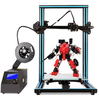 Chiron Screen Ultrabase Extruder Dual Z Axis Color Updated Largest 3D Printer Optional , Detect Resume Power Off Optional