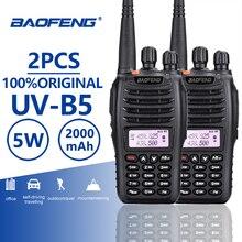 2 шт. Baofeng UV-B5 портативной рации полиции оборудования Профессиональный Dual Band PTT УФ B5 мобильный радиотелефон КВ трансивер радиолюбителей UVB5