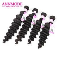 Malaysian Loose Deep Wave Bundles 3/4 pcs Natural Color Human Hair Extensions Non Remy Hair Weave Bundles