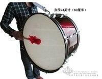 Henlucky Музыкальные инструменты 8 ногтей профессиональный большой армия барабан 24 дюймов красное вино Музыка команда студенческие спортивные