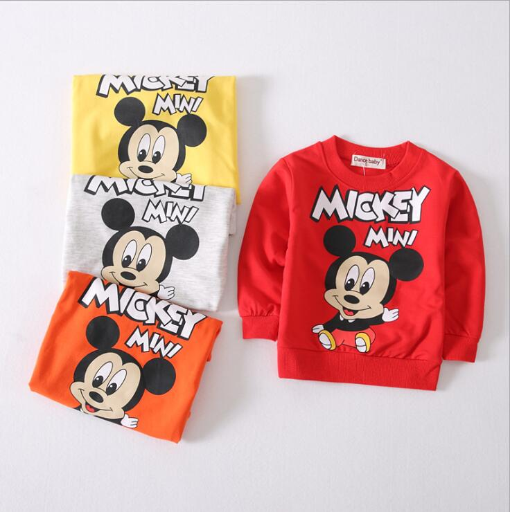 Baby Boys T shirt Children Clothing 2017 Brand Clothes Boys Long Sleeve Tops mickey Kids T-shirts for Boy Sweatshirt 6M-3YEARS