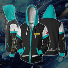 Hatsune Miku Hoodie Anime Sweatshirts Costume Cosplay Anime 3D Men Women Coat