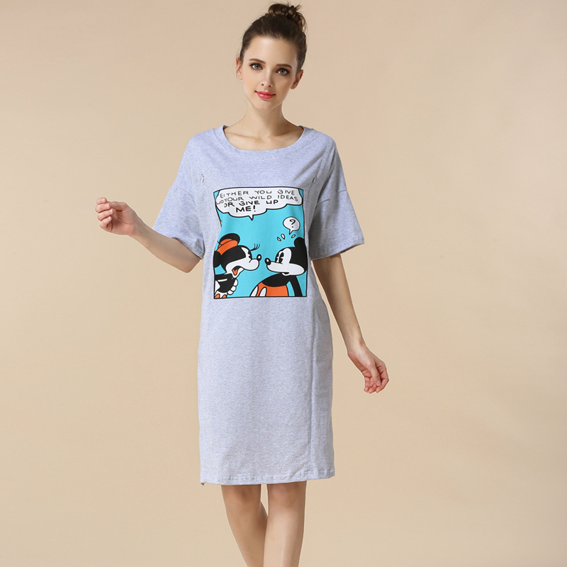 Moms micky pattern maternity clothes maternity dresses pregnancy clothes for Pregnant Women nursing dress Breastfeeding