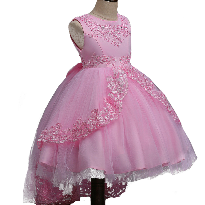 Berngi Girls Dress Princess Tailing Dress for wedding Party Kids Sequined Big Bow Prom Christmas Dress Tulle Flower Girls