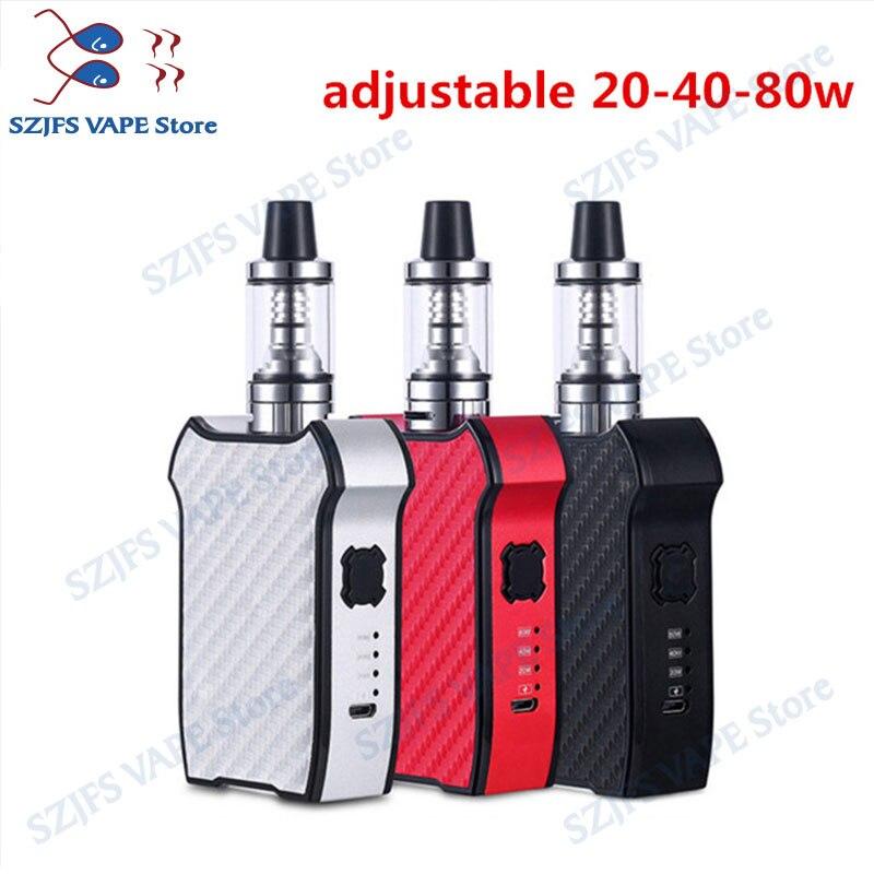 Violin 80w Vape Electronic Cigarette Kit 2200mah Vape Mod Box 2.0ml Vaporizer Hookah Vaper Shisha Pen E Cig Smoke LED SmokingKit
