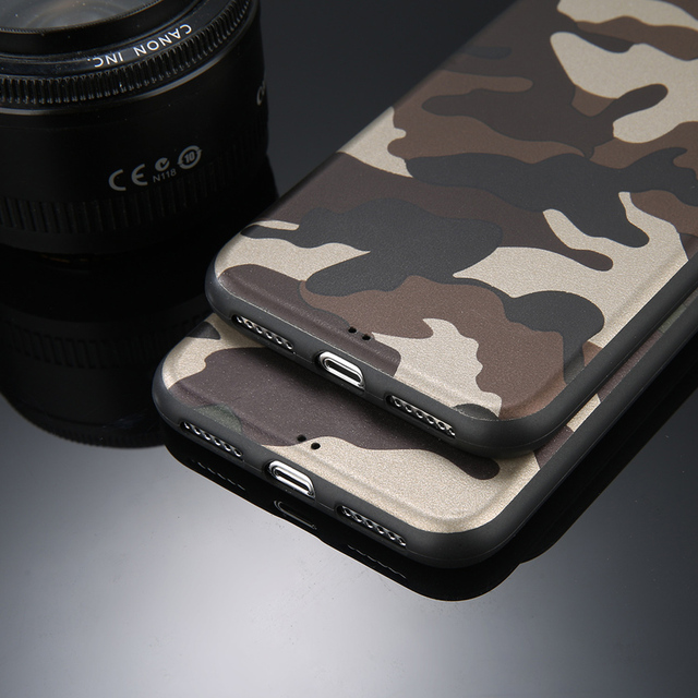 Camouflage Soft TPU Silicon Case – iPhone