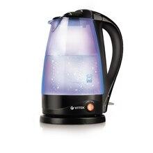 Чайник электрический Vitek VT-1180 В (Объем 1.7 л, мощность 2200 Вт, стеклянный корпус, бесшумная работа, многоцветная подсветка, фильтр)