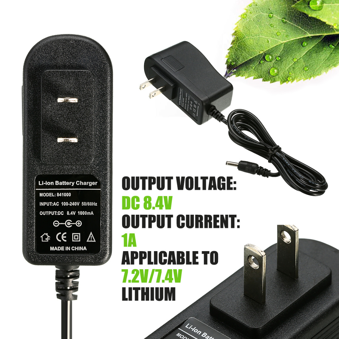 1pc Pro Lithium Battery Rechargeable Charger 8.4V 1A Intelligent Auto Stop Battery Chargers Supports 7.2V/7.4V Battery Mayitr