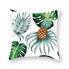 Emerra Tropical Plants Pillow Case Polyester Decorat Green Leaves Throw Pillow Cover Square Wholesale Hot Selling Free Shipping 150 200cm kids blue duvet cover without comforter send 2 pillow case wave striped pattern 2016 hot selling free shipping