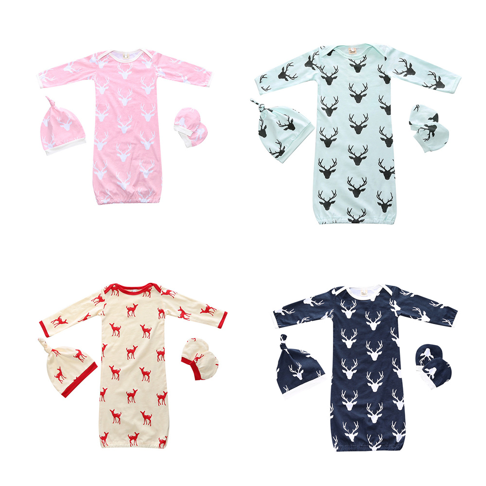 3pcs/set Baby Pajamas Set Baby Sleeping Bag Retaily New