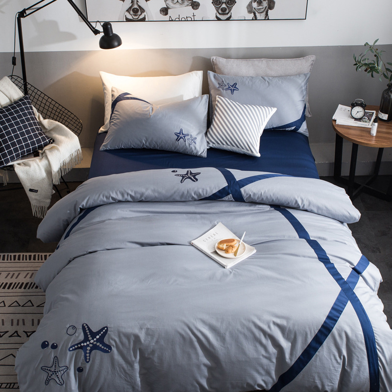 3/4pcs bedding set cotton reactive printing double bed sheets duvet cover pillowcases home solid bed linen sets soft bedclothes 3/4pcs bedding set cotton reactive printing double bed sheets duvet cover pillowcases home solid bed linen sets soft bedclothes