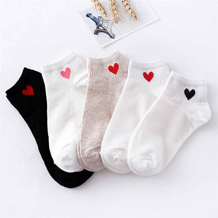 1Pairs Unisex Women&Men Solid Heart-Shaped Couple Skateboard Casual Business Sock Socks Comfortable Socks Dropshipping 1220