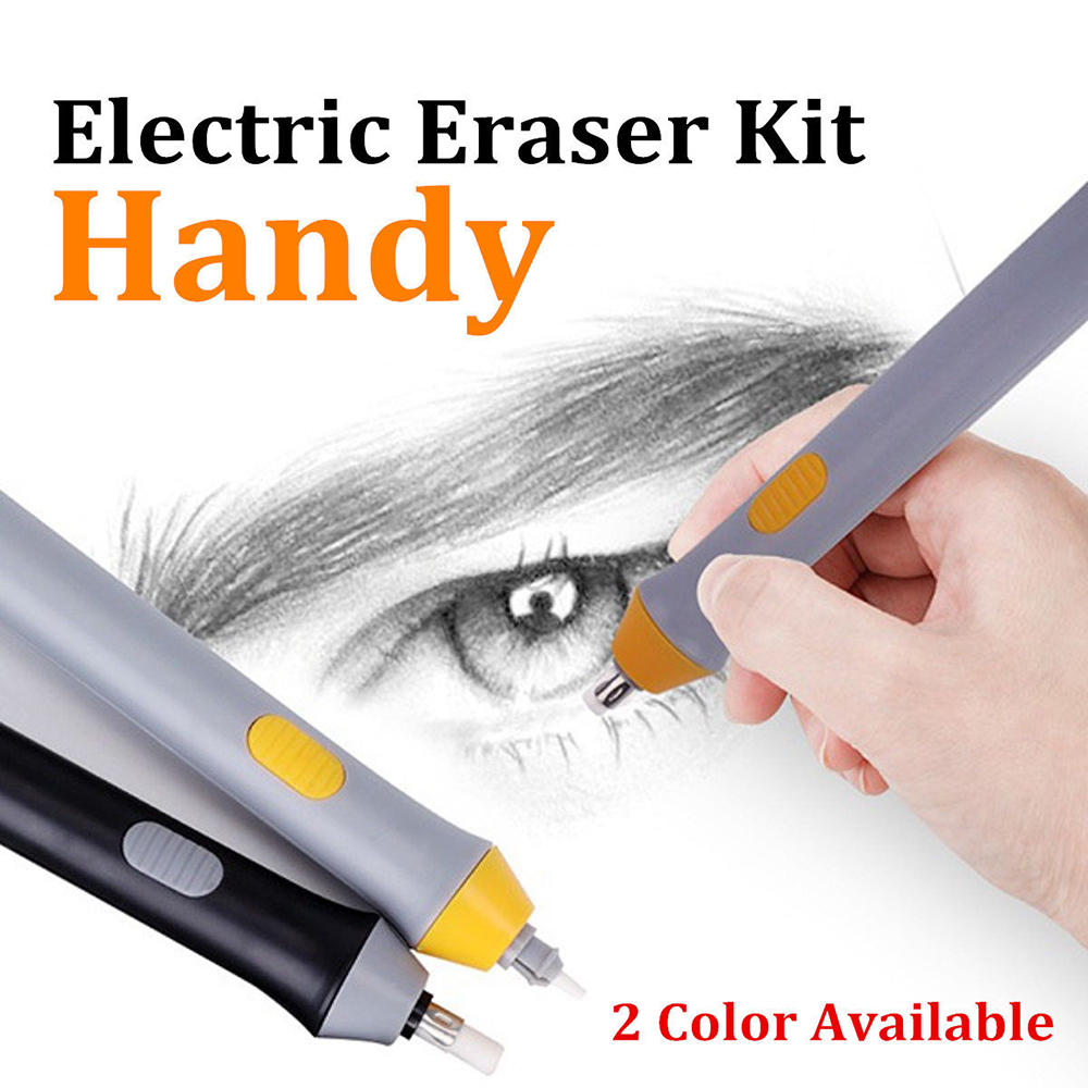Electric Eraser Automatic Electronic Pencil Plastic Painting Drawing Eraser Stationery Office School Supplies
