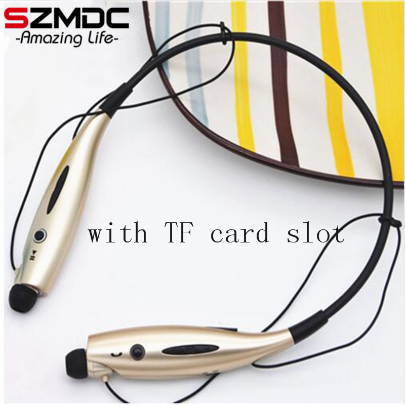 SZMDC 730 SD Card Slot Wireless Bluetooth Headset Sports Bluetooth Earphones Headphone with Mic Bass Earphone for Samsung iphone factory price binmer 1pc sports wireless bluetooth headset earphone headphone for samsung jy27 drop shipping