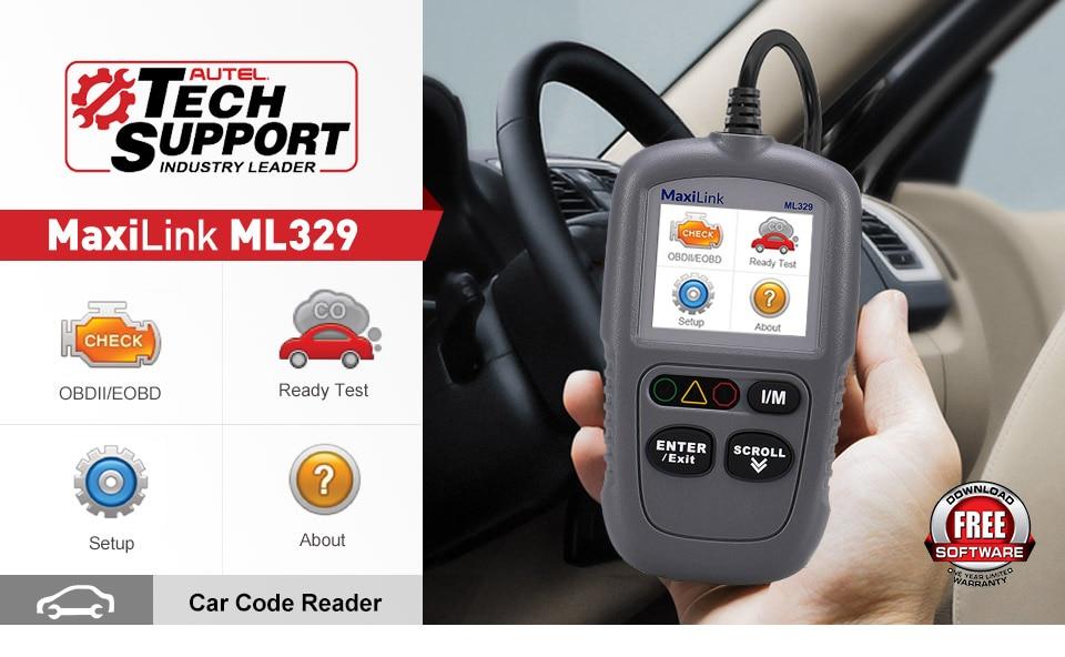 Autel Ml329 Us Car Auto Diagnostic Fault Code Reader Scan Tool Obd2