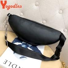 Yogodlns Casual Messenger Bag Fashion Women Shoulder Bag Chest Pack Bag Crossbody Sling Bag Purse PU Leather Handbags